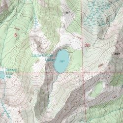 Crater Lake Topographic Map.Little Crater Lake Siskiyou County California Lake Mount Eddy