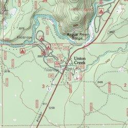 Union Creek Jackson County Oregon Populated Place Union Creek