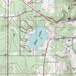 Deer Lake Island County Washington Lake Maxwelton Usgs