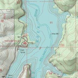 Hills Creek Lake Lane County Oregon Reservoir Oakridge USGS