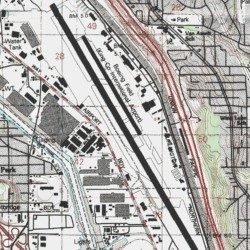 King County Topographic Map.Boeing Field King County International Airport King County