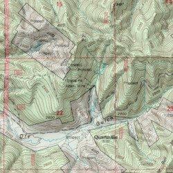 Albany Mine Linn County Oregon Mine Quartzville Usgs Topographic