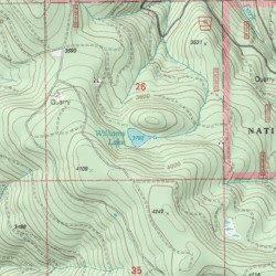 Williams Lake Clackamas County Oregon Lake Soosap Peak Usgs