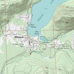 Lewis County Washington Map.Mineral Lake Lewis County Washington Reservoir Mineral Usgs