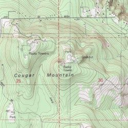 King County Topographic Map.Cougar Mountain King County Washington Summit Issaquah Usgs
