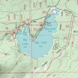 Big Lake Linn County Oregon Lake Mount Washington USGS - Oregon topographic map
