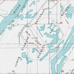 Miller Island Klamath County Oregon Island Klamath Falls Usgs