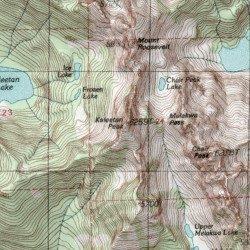 King County Topographic Map.Kaleetan Peak King County Washington Summit Snoqualmie Pass Usgs