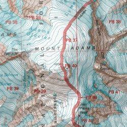Mt Adams Washington Map.Mount Adams Yakima County Washington Summit Mount Adams East