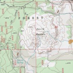 Devils Garden Klamath County Oregon Area Sprague River West Usgs