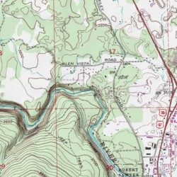 Deschutes River Trail Deschutes County Oregon Park Bend USGS - Topographical map of oregon