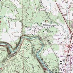 Deschutes River Trail Deschutes County Oregon Park Bend USGS - Oregon topographic map