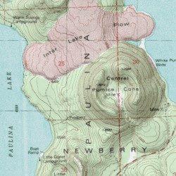 Volcano Topographic Map.Newberry Volcano Deschutes County Oregon Lava East Lake Usgs