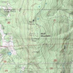 Wolf Mountain Nevada County California Summit Grass Valley Usgs