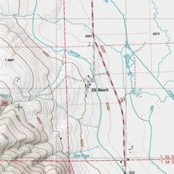 ZX Ranch, Lake County, Oregon, Locale [Paisley USGS Topographic Map on