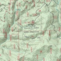 Placer County Grove Sierra Redwoods Placer County California Park - Usgs map store