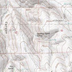 Wheeler Oregon Map.Quaking Aspen Spring Wheeler County Oregon Spring Toney Butte