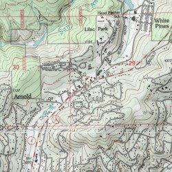 Arnold Calaveras County California Populated Place Dorrington