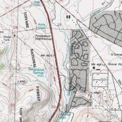 Ponderosa Ranch, Washoe County, Nevada, Locale [Steamboat USGS ... on bonanza ranch nevada map, nevada ponderosa ranch map, idaho craters of the moon map,