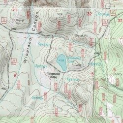 Wheeler Oregon Map.Wineland Lake Wheeler County Oregon Lake Wheeler Point Usgs