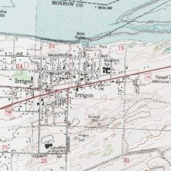 Irrigon Oregon Map.Irrigon Morrow County Oregon Populated Place Irrigon Usgs
