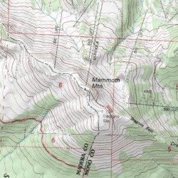Mammoth Mountain California Map.Mammoth Mountain Mono County California Summit Mammoth Mountain