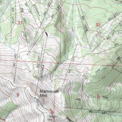 Mammoth Mountain California Map.Mammoth Mountain Ski Area Mono County California Locale Mammoth