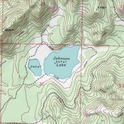 Johnson Lake Okanogan County Washington Lake Nespelem USGS - Johnson lake map