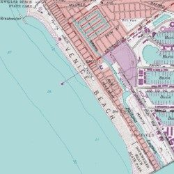 Venice Beach Los Angeles County California Beach Venice USGS - Los angeles map venice beach