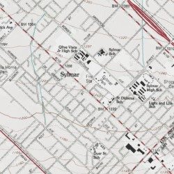 Sylmar Los Angeles County California Populated Place San
