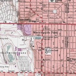Morningside Park Reservoir Los Angeles County California - Inglewood map