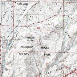 Agua Dulce California Map.Vasquez Rocks Los Angeles County California Summit Agua Dulce