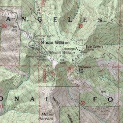 Mount Wilson Los Angeles County California Summit Mount Wilson - Los angeles topographic map