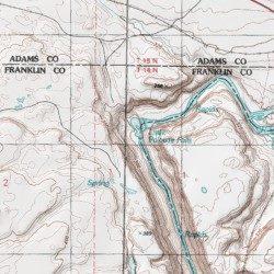 Palouse Falls Washington Map.Little Palouse Falls Whitman County Washington Falls Palouse