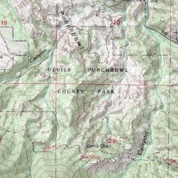 Devils Punchbowl County Park Los Angeles County California Park - Los angeles topographic map