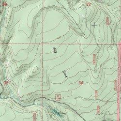 Big Sink Union County Oregon Basin Jubilee Lake Usgs Topographic