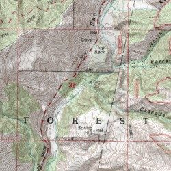 cascade canyon los angeles county california valley mount baldy usgs topographic map by mytopo