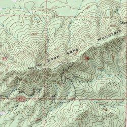 Loon Lake Mountain Stevens County Washington Summit Deer Lake