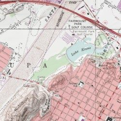 Fairmount Park Riverside County California Park Riverside West Usgs Topographic Map By Mytopo