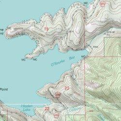 O Rourke Bay Kootenai County Idaho Bay Hayden Lake Usgs
