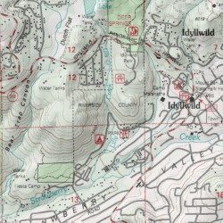 Idyllwild Park Riverside County California Park Idyllwild Usgs Topographic Map By Mytopo