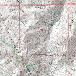 Topographic Map Of San Diego.San Diego City Conduit San Diego County California Canal Barrett