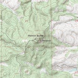 Winchester Idaho Map.Mason Butte Lewis County Idaho Summit Winchester East Usgs