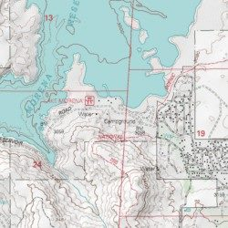 Topographic Map Of San Diego.Lake Morena Campground San Diego County California Locale Morena