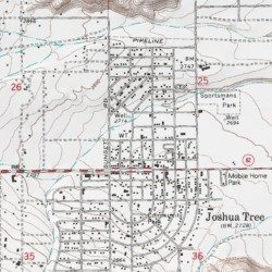 Joshua Tree Topographic Map.Morongo Basin Ambulance San Bernardino County California Building