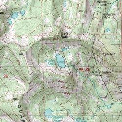 Crater Lake Topographic Map.Crater Lake Valley County Idaho Lake Profile Gap Usgs