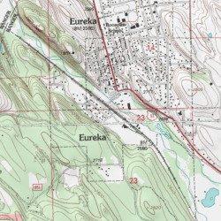 Lincoln County Montana Map.Eureka Lincoln County Montana Locale Eureka North Usgs