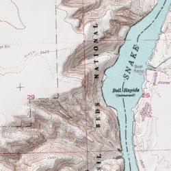 Hagerman Idaho Map.Hagerman Fossil Beds National Monument Twin Falls County Idaho