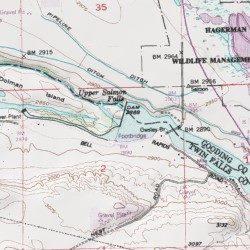 Hagerman Idaho Map.Upper Salmon Falls Reservoir Gooding County Idaho Reservoir