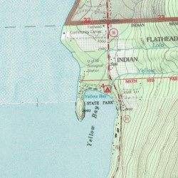Flathead Lake State Park Yellow Bay Unit Lake County Montana Park Woods Bay Usgs Topographic Map By Mytopo